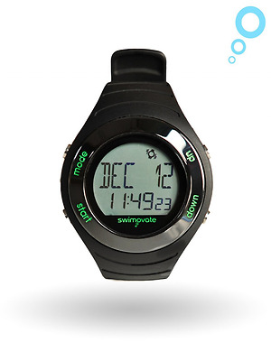 Swimovate Poolmate Live Lap Counter Swim Watch with Vibrating Alarm, Black
