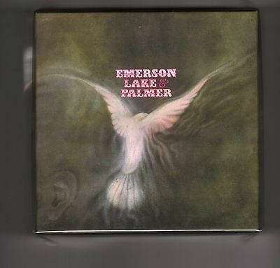 EMERSON LAKE & PALMER empty DU first album PROMO box for JAPAN mini lp cd ELP