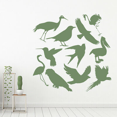 Bird Group Flamingo Parrot Wall Sticker Set WS-33049