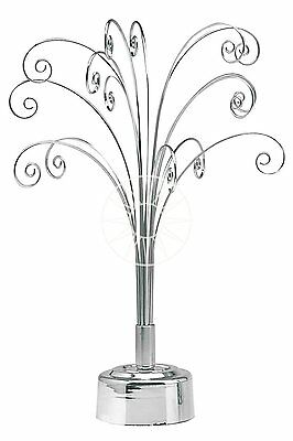 Fountain Tree Display Rotating Stand Jewellery Swarovski Suncatchers etc SILVER