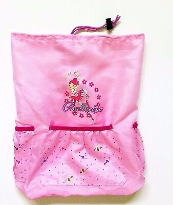 Ballerina Pink Drawstring Backpack   Zippidy Kids