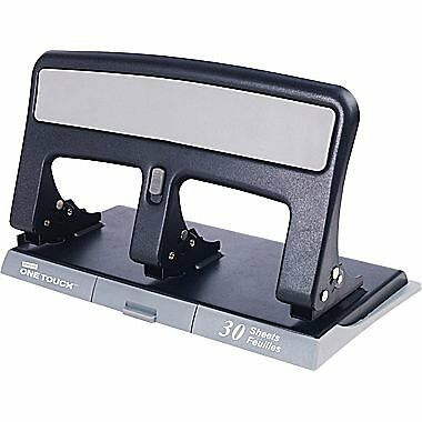 Staples One-Touch Heavy-Duty 3-Hole Punch, 30-Sheet Capacity...NEW