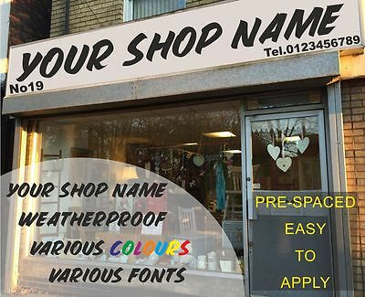 Custom Fascia Sign Vinyl Graphics Business Name Lettering Self Adhesive Signs