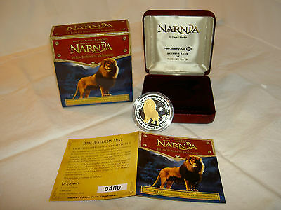 New Zealand 2006 Narnia Coin $1 Aslan Lion Proof Silver 99.9% Troy Ounce RARE