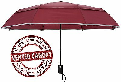 Compact Windproof Umbrella Automatic Open Close Unisex Arcadia Outdoors