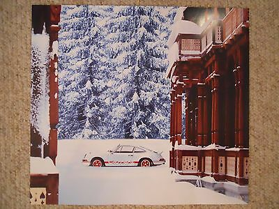 """1973 Porsche 911 """"Carrera RS"""" Showroom Advertising Sales Poster RARE!! Awesome"""