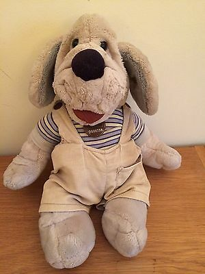 Vintage 1980's Wrinkles The Dog Hand Puppet Soft Toy
