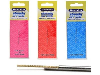Beadalon Sbeady Needle - Asst Sizes - Needle for Beading Wire - BEADS & TOOLS