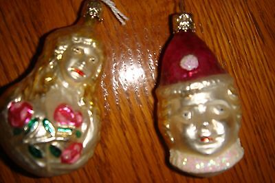 Old World Christmas W.germany Inge-Glas Blown Glass Ornament- Child's Face - New