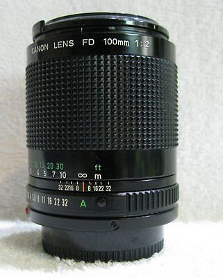 "Canon  100mm f2 Prime Lens. ""New FD Mount""  Excellent Condition"