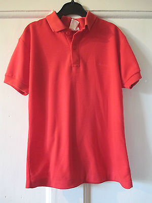 Boys Debretta  Vintage Red Pique   Polo Shirt Approx  Age 9 -10  Height