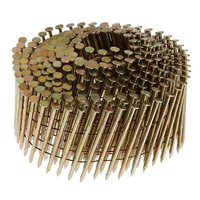 """1-3/4"""" Siding Nails, 15° Wire Coil, Stainless Steel, Ring Shank, 3600 Nails"""