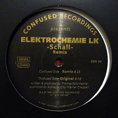 "Elektrochemie Lk - Schall (Remix) Vinilo 12"" Confused Recordings Techno 1999"