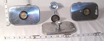 Antique Soda Fountain Or Ice Steel Syrups Or Condiments Covers With Scoops