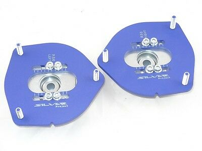 Camber Plates for Mini Cooper R56 One Cooper S - ADJUSTABLE -  BLUE