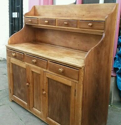 antique large continental rustic dresser with lots  of  storage uk delivery avai