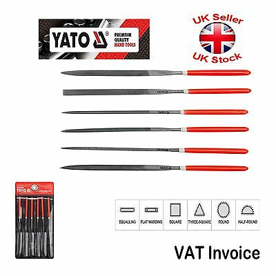 Yato Professional Needle Metal File Set of 6 Length: 140x65mm YT-6160