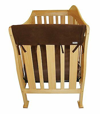 Trend Lab Fleece CribWrap Rail Covers for Crib Sides Set of 2, Brown, Wide New