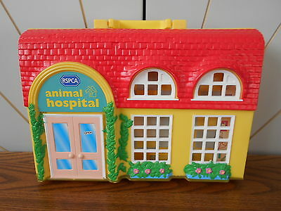 RSPCA ANIMAL HOSPITAL playset carry case for animal toys PUPPY IN MY POCKET