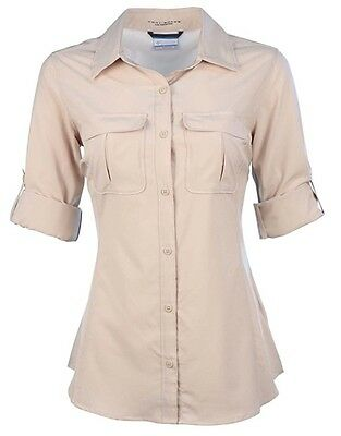 "New Womens Columbia ""Arrowhead Trail II"" Omni-Shade / Wick Long Sleeve Shirt"