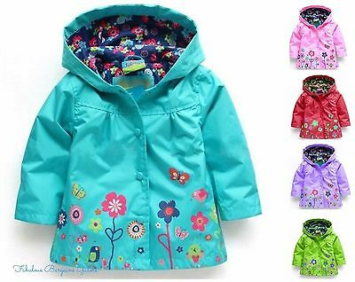 Baby Girls Jacket Toddler Hooded Flower Lightweight Spring Kids Summer Coat