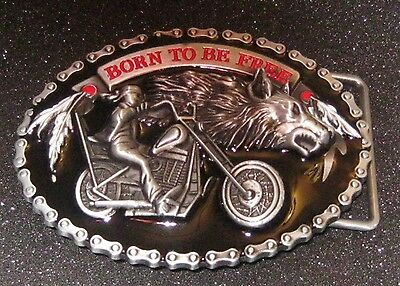 """New """"Born to be Free"""" Belt Buckle.Free Shipping to Canada & USA! #355"""