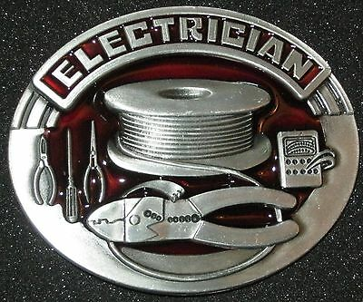 New Electrician Belt Buckle. Free Shipping to Canada & USA! #1760