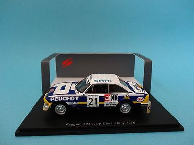 Peugeot 504 V6 Coupe #21 - Makinen - Rally Cote Ivoire 1976 1/43 New Spark S1296