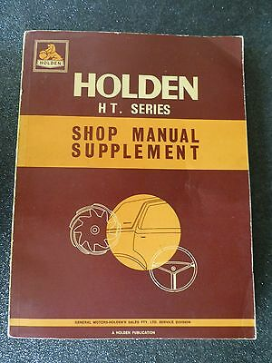 "HOLDEN  "" HT series ""  GENUINE  factory  REPAIR  MANUAL  Supplement   RARE"