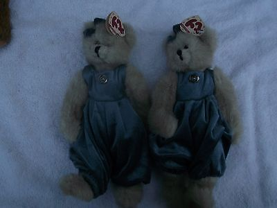 "Two awesome TY Attic Treasures -Two Cassie the Cat 8"" with tags"