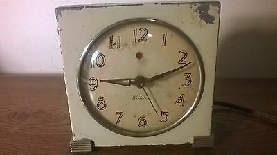 Unique Vintage Westclox Electric Alarm Clock Logan Self Starting