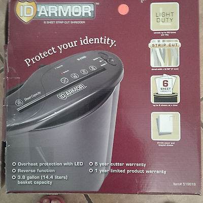 ID Armor 6 Sheet Strip Cut Shredder