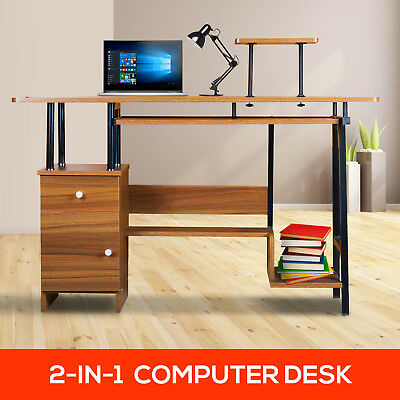 Home Office Computer Desk Table Storage Drawer Cabinet Student Study Furniture