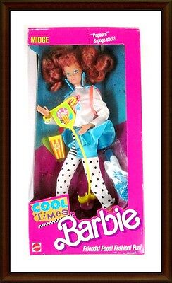 Cool Times Midge Doll  - Friend of Barbie - 1988  - NRFB - Mattel - In Box