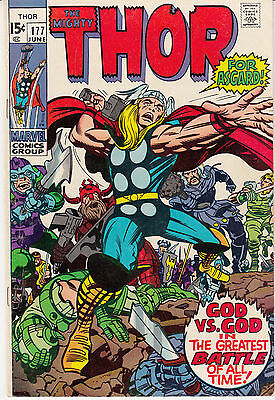Thor #177 (Jun 1970, Marvel) Classic Kirby cover and art