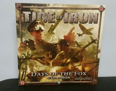 Fantasy Flight Tide of Iron Days of the Fox Expansion Box EXCELLENT CONDITION!
