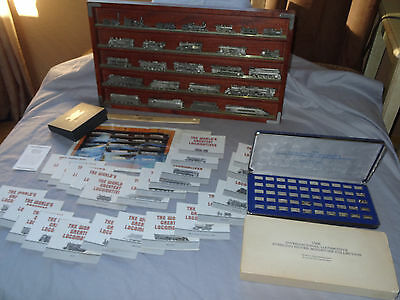"Franklin Mint  ""worlds Greatest Locomotives""  Pewter/silver Lot  Mint Condition"