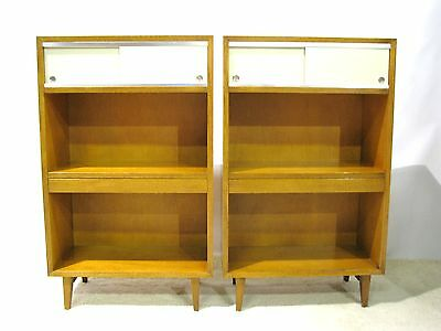 Rare Mid-Century George Nelson / Herman Miller Pier Cabinets; Pull Out Surface