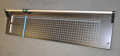 """New 24"""" Hard Steel Manual Rotary Paper Trimmer Cutter,Photo,Poster,Banner,Copper"""