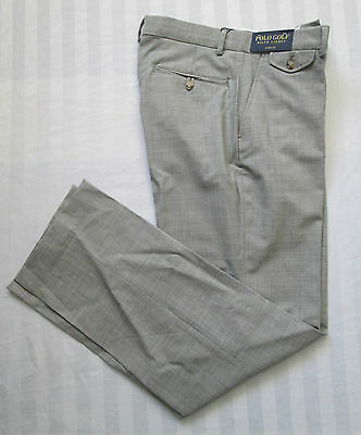 POLO GOLF RALPH LAUREN Mens LINKS-FIT STRETCH WOOL Heather Grey Pant Size 30x32