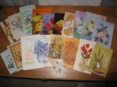 Vintage Lot Of 1960'S & 1970'S Signed Kids Cards To Mothers & Fathers W/o Envel