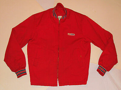 MEN'S VINTAGE 1980s USAIR MECHANIC'S JACKET! BRIGHT RED! ZIP-OUT LINER! USA! S