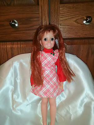 """Doll 17"""" Ideal Grow hair Crissy Original dress and shoes"""