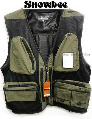 Snowbee superlight Fly Fishing vest mesh green fishing vest S11615