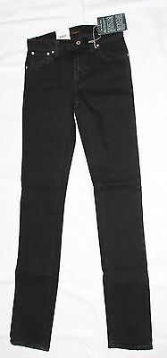 New With Tag! Unisex Nudie Jeans Thin Finn Skinny Leg In Black 100% Authentic!