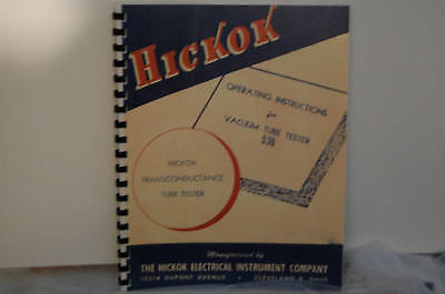 Operating Manual For Hickok 536 Tube Tester