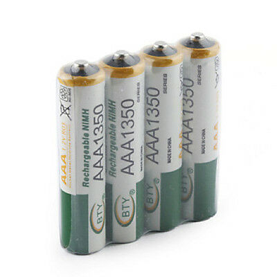 Piles rechargeables 4pcs BTY 1.2V AAA 3A 1350mAh Ni-MH rechargeable battery