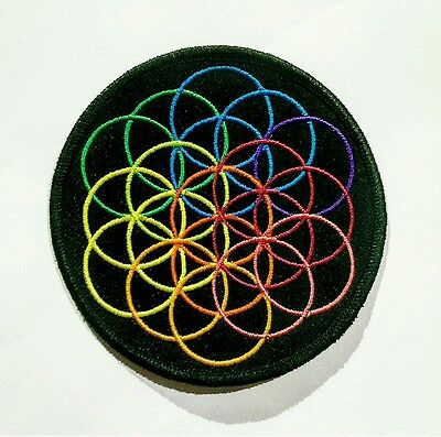 COLDPLAY Limited Edition Flower of Life patch/badge A Head Full of Dreams AHFOD