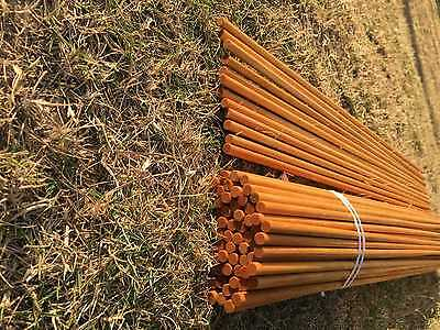 24Pcs Handmade Indonesia white Wood Shafts No Nock For DIY Wood Arrow 31.5Inches