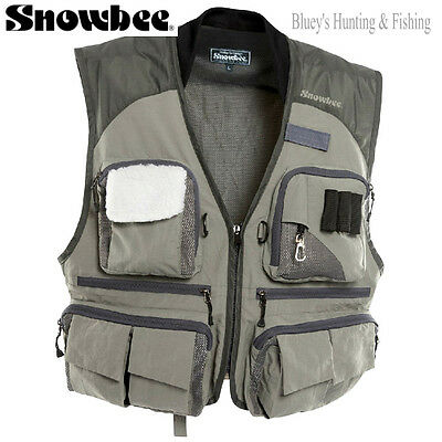 Snowbee mens superlight Fly vest grey fishing vest S11614 sm-5xl